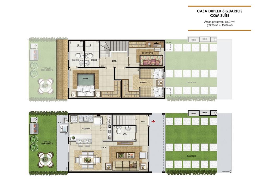 Family club pdg for Plantas de casas tipo 3